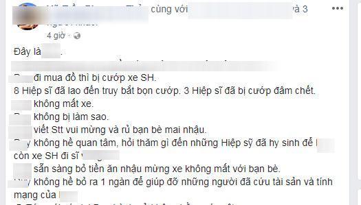 """chu xe sh len tieng khi dan mang nem da vi """"tho o"""" truoc su ra di cua hiep si - 1"""