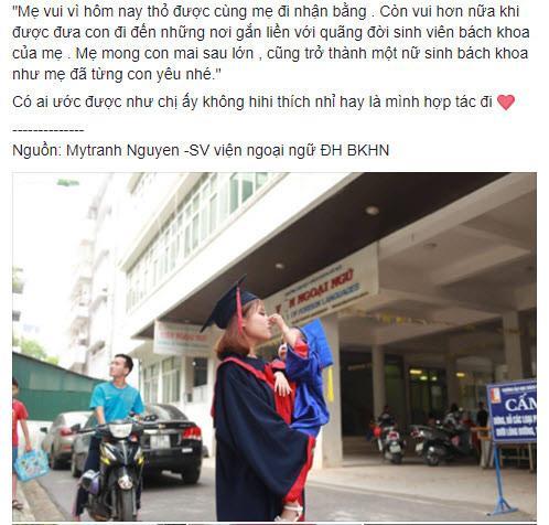 """sv bach khoa be con di tot nghiep: lam me don than sau cuoc hon nhan """"bac si bao cuoi"""" - 1"""