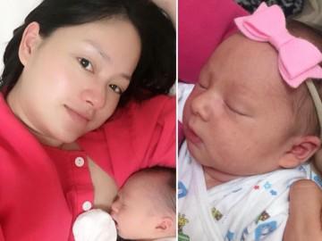 Lan Phương đã khoe hình ảnh đầu tiên về công chúa nhỏ trên mạng xã hội