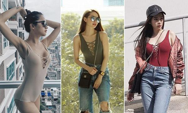 cung mot set do bikini ngoc trinh khoe dang quyen ru con minh hang dien han ra pho - 4