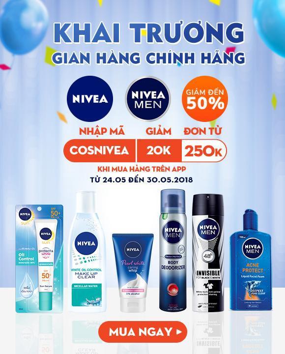 khuyen mai den 50%, ngai gi khong mua san pham nivea chinh hang tren shopee - 2