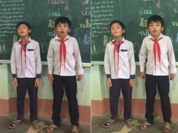Hai bé học sinh cấp 1 đọc rap tặng cô giáo nhanh như máy khiến dân mạng choáng váng