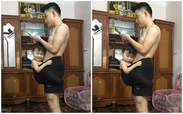 "be trai 19 thang ngu say trong 1 phut nho duoc bo ru theo cach ""chang giong ai"" - 2"