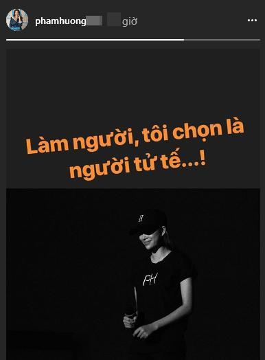 """giua on ao doi tu, pham huong khoa facebook, dang trang thai: """"chon la nguoi tu te"""" - 2"""