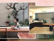 Nhà 40m² của vợ chồng Hà Nội gây ngạc nhiên vì rộng như trăm m², có vườn nho sai trĩu