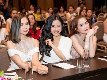 """Ngọc Trinh, Huyền Lizzie, Stella Chang tại hội thảo """"Trắng da cùng chuyên gia"""""""