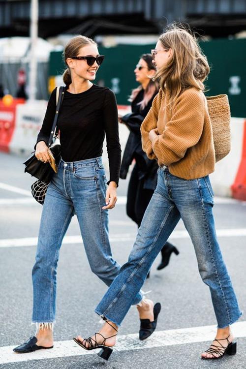 kiẻu quàn jeans vùa thoải mái lại khong lõi mót dang duọc lòng chị em - 1
