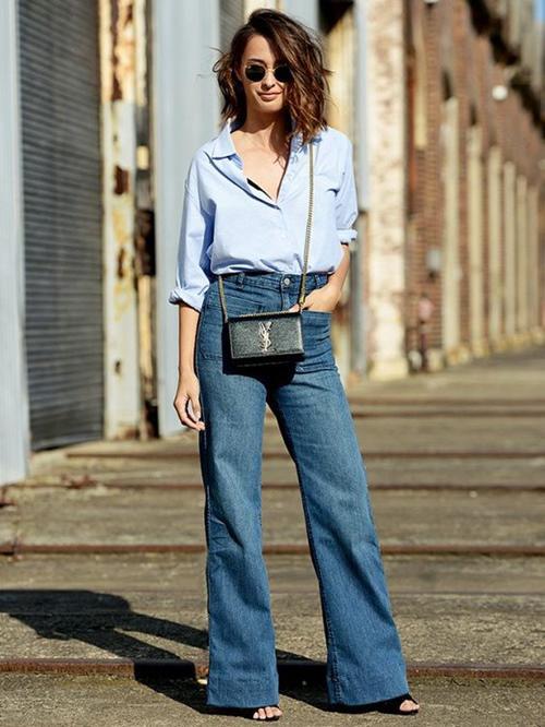 kiẻu quàn jeans vùa thoải mái lại khong lõi mót dang duọc lòng chị em - 7