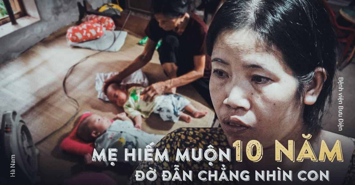 "me hiem muon mong con 10 nam, sinh doi roi van than tho vo bung: ""da de dau"" - 1"