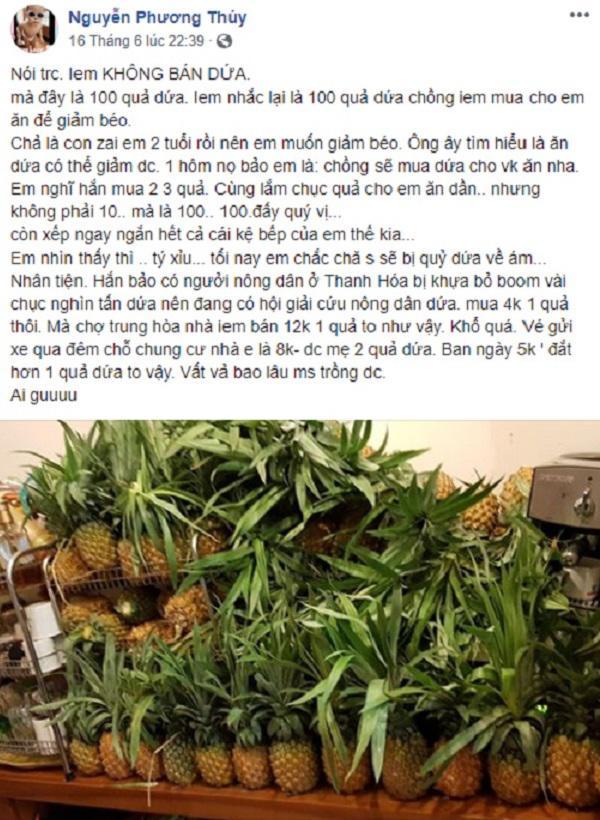 """chong mua 100 trai dua nguyen giup vo """"danh ca thanh xuan de giam can"""" - 1"""