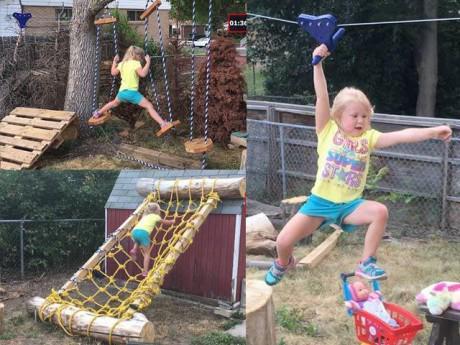 Bố đơn thân tự thiết kế trò chơi cho con gái khiến ai nhìn cũng phải giật mình