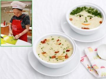 Học nấu súp khoai tây tỏi giàu dưỡng chất đổi vị ngày hè cho trẻ