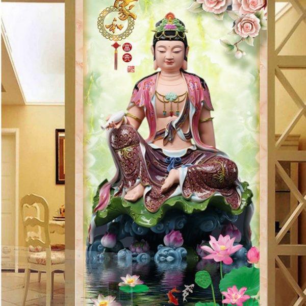 trang tri nha dep lai khong ton nhieu chi phi voi nhung mau tranh 3d phong khach song dong - 13
