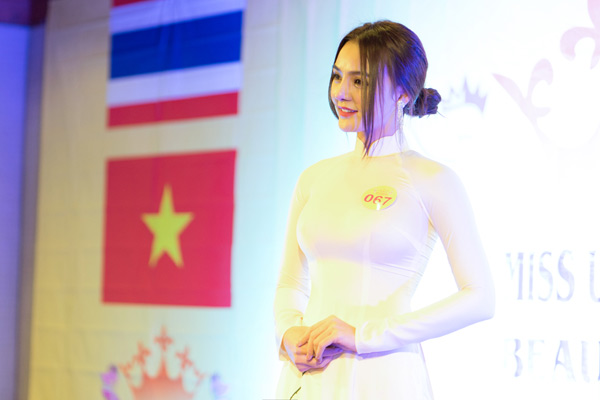 Hoa hậu Trái đất Thái Lan trao vương miện cho Tân Nữ hoàng sắc đẹp châu Á Vi Nhạn Ngọc - 3