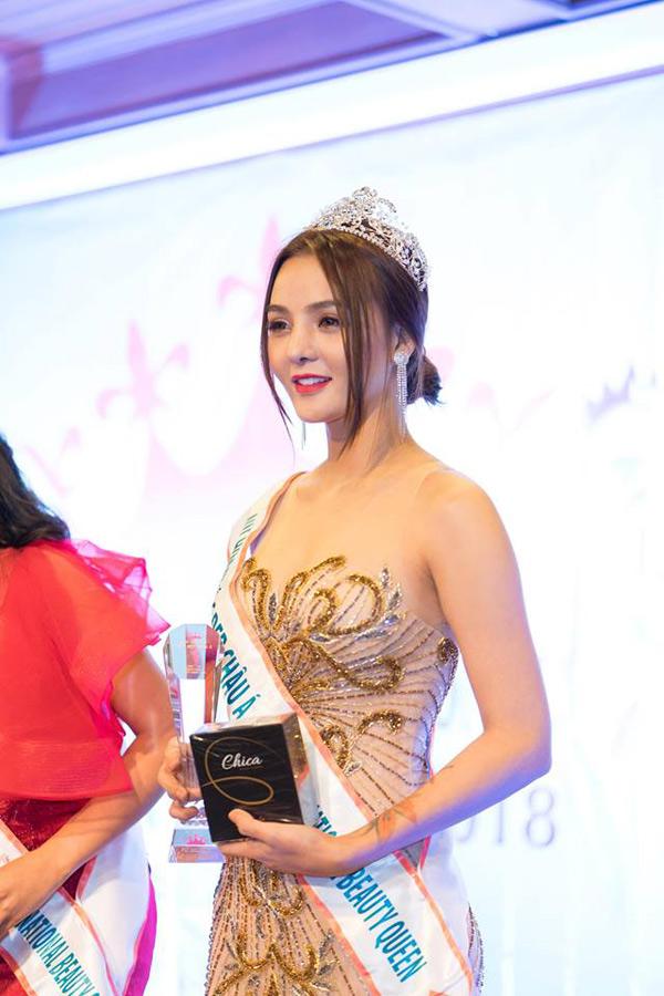 Hoa hậu Trái đất Thái Lan trao vương miện cho Tân Nữ hoàng sắc đẹp châu Á Vi Nhạn Ngọc - 7