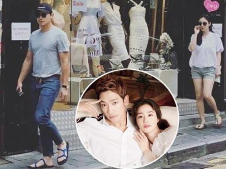 """Bắt gặp Kim Tae Hee """"phát tướng"""", bí mật đến Hong Kong hẹn hò cùng Bi Rain"""