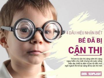4 dấu hiệu cảnh báo cận thị ở trẻ nhỏ