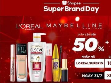 Shopee giảm giá đến 50% các sản phẩm của tập đoàn danh tiếng L'Oreal
