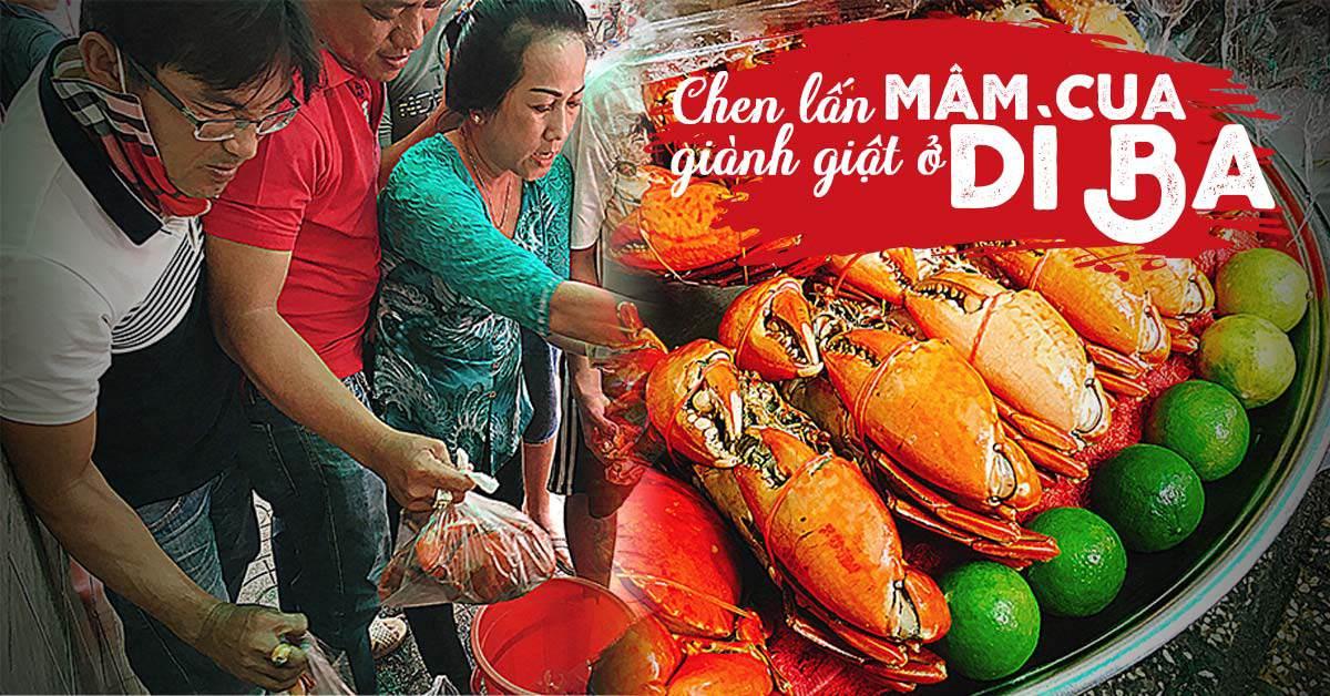 """choang vang canh chen lan gianh giat mua """"mam cua di ba"""" o sai gon, 10 phut ban 30kg - 1"""